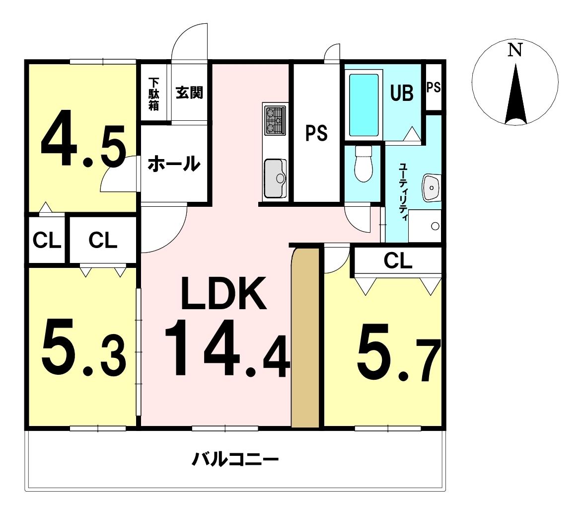真駒内緑町団地2号棟 中古マンション/札幌市南区 画像3