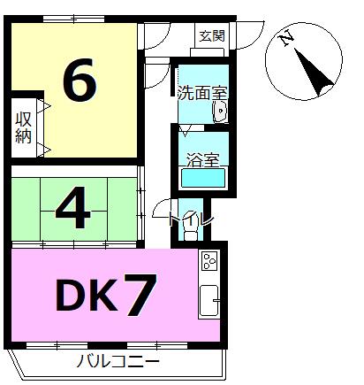 中古マンション コーポ千代田/千歳市 画像3